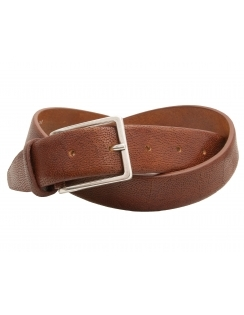 Premium Italian Leather Structured Belt - Cognac