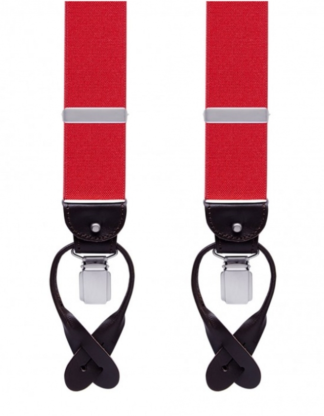 Profuomo Braces - Red