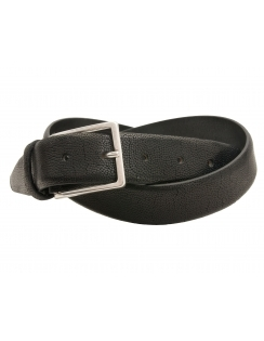 Profuomo Premium Italian Leather Structured Belt - Black