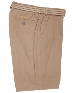 Pure Cotton Elasti Waist Trouser-Tan