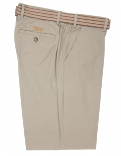 Pure Cotton Elastic Waist Trouser-Beige