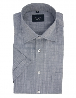 Pure Cotton Half Sleeve Shirt - Grey