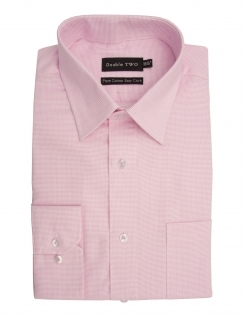 Pure Cotton Long Sleeve Textured Shirt - Pink
