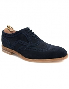 Radley Suede Oxford full Brogue - Navy