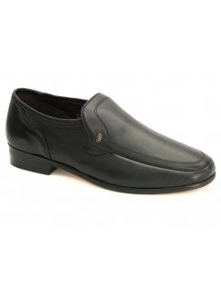 Rasco Leather Slip On Shoe - Black