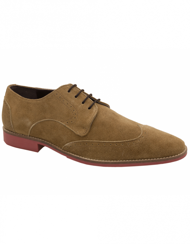 Maybury Remus Brogue Suede Derby - Ginger