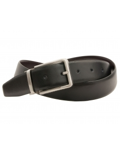 Reversible Premium Italian Leather Leather Belt - Black Brown