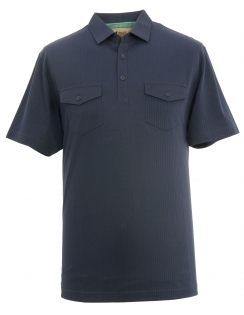 Ribbed Jersey Shirt - Navy
