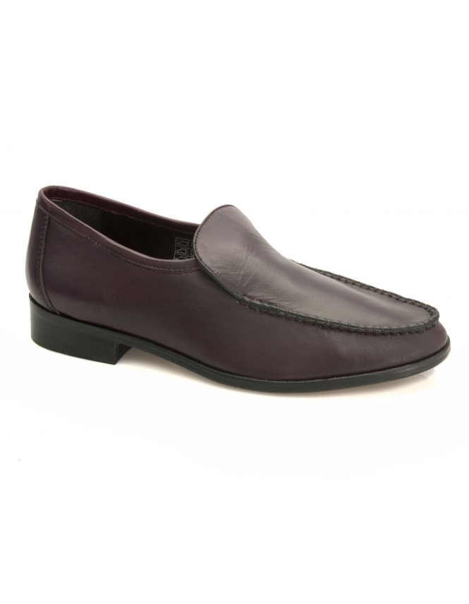 Maybury Rowen Burgundy Leather Moccasins