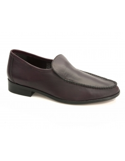 Rowen Burgundy Leather Moccasins