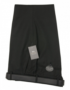 San Remo Plain Trouser - Black