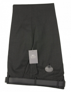 San Remo Plain Trouser - Charcoal