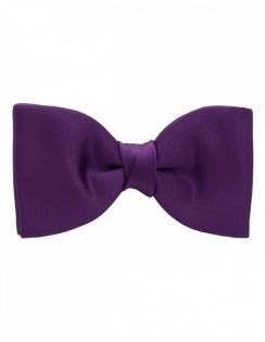 Satin Bow tie - Purple