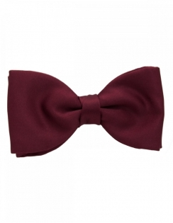 Satin Bow tie - Wine