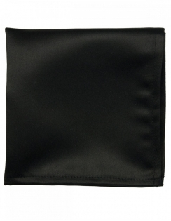 Satin Pocket Square Black