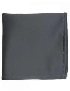 Satin Pocket Square Gunmetal