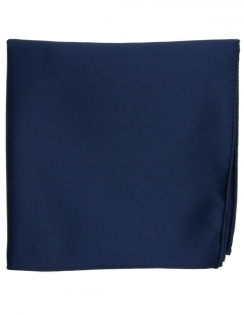 Satin Pocket Square Navy