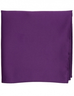 Satin Pocket Square Purple