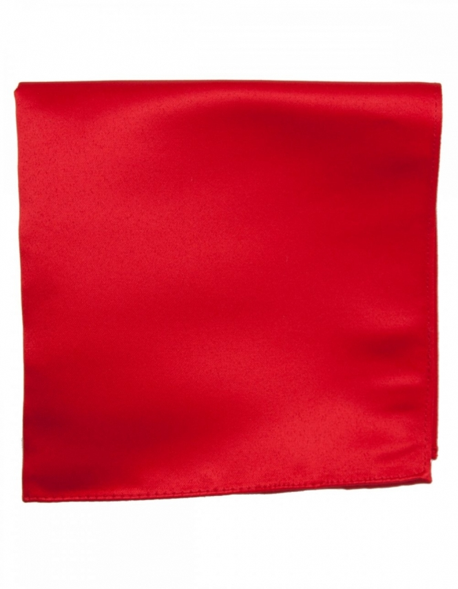 Van Buck Satin Pocket Square Red
