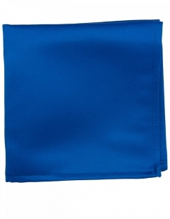 Satin Pocket Square Royal