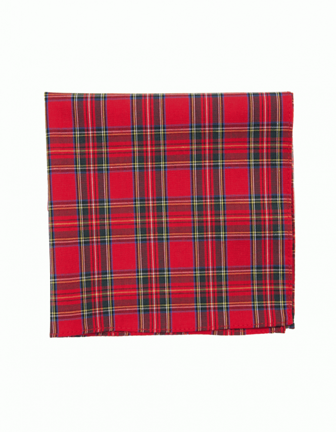 Van Buck Satin Pocket Square Royal Stuart