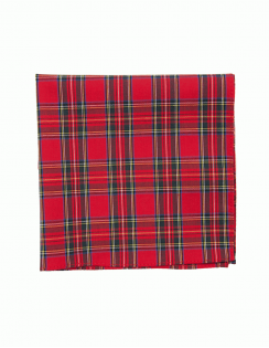 Satin Pocket Square Royal Stuart