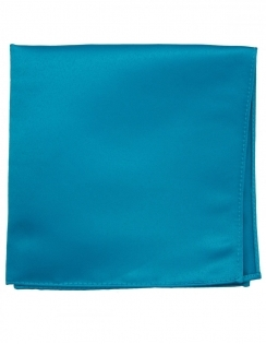 Satin Pocket Square Turquoise