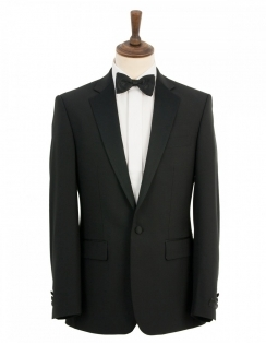 Classic Fit Dinner Suit Jacket - Black