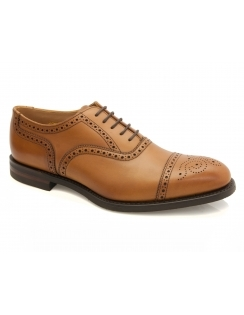 Seaham Leather Semi Brogue - Tan