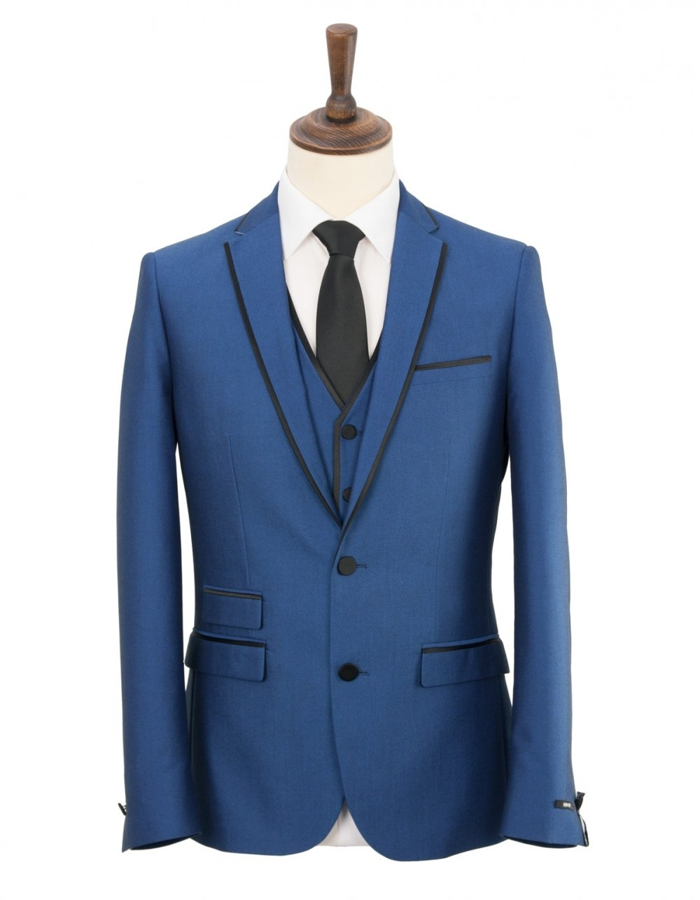 Harry Brown Slim Fit 3 Piece Prom Suit - Bright Blue - Formal ...