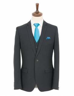 Slim Fit Charcoal Micro check 3 Piece Suit