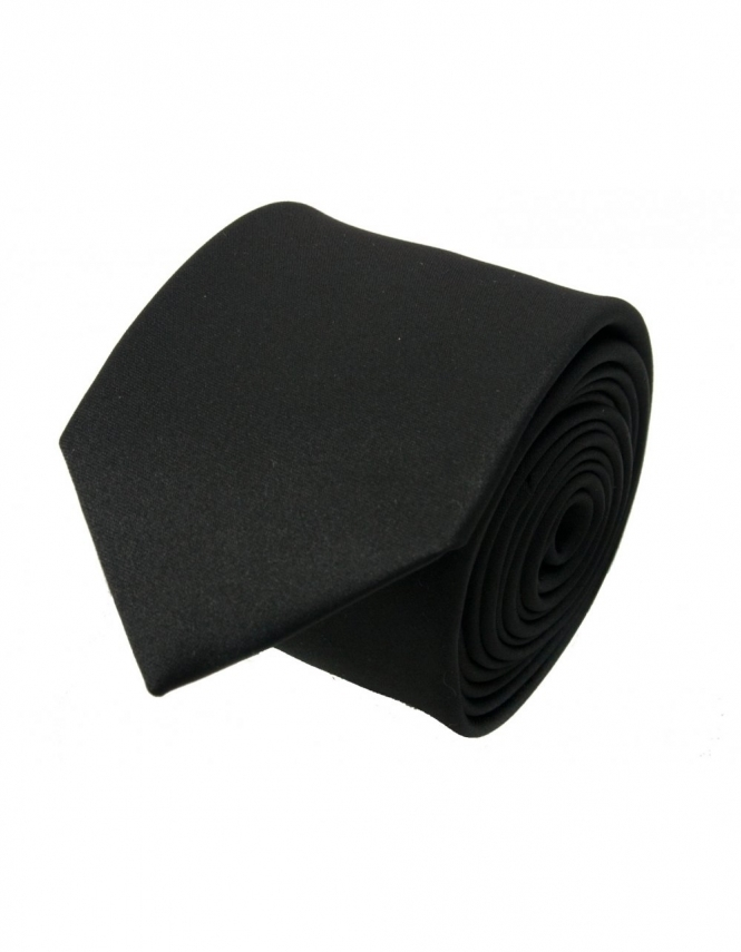Van Buck Slim Satin Tie - Black