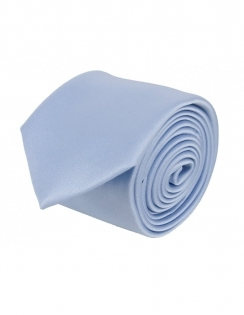 Slim Satin Tie - Mill Blue
