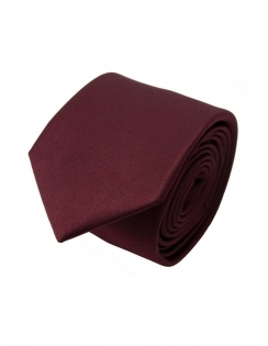 Slim Satin Tie - Wine