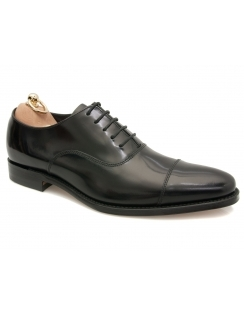 Smith Toe Cap Oxford Shoe - Black