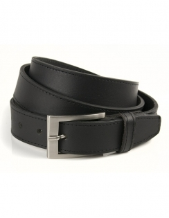 Sophos Block Edge Black Leather Belt 30mm
