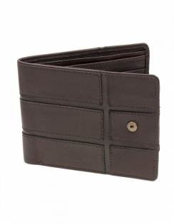 Sophos Brown Grain Leather Wallet with Embossed Panel Design
