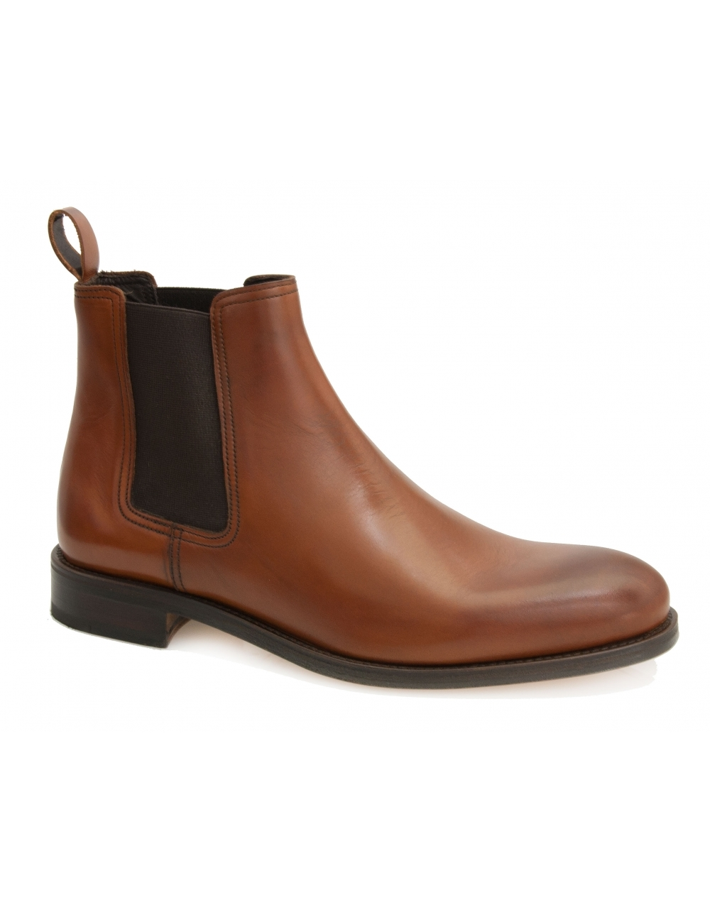 d1c574f30d45 Stables Calf Leather Chelsea Boot - Tan | Fields Menswear