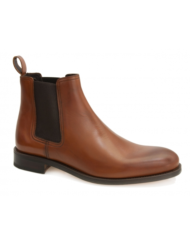 John White Stables Calf Leather Chelsea Boot - Tan