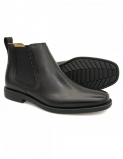 Steptronic Austin - Black Leather Chelsea boot