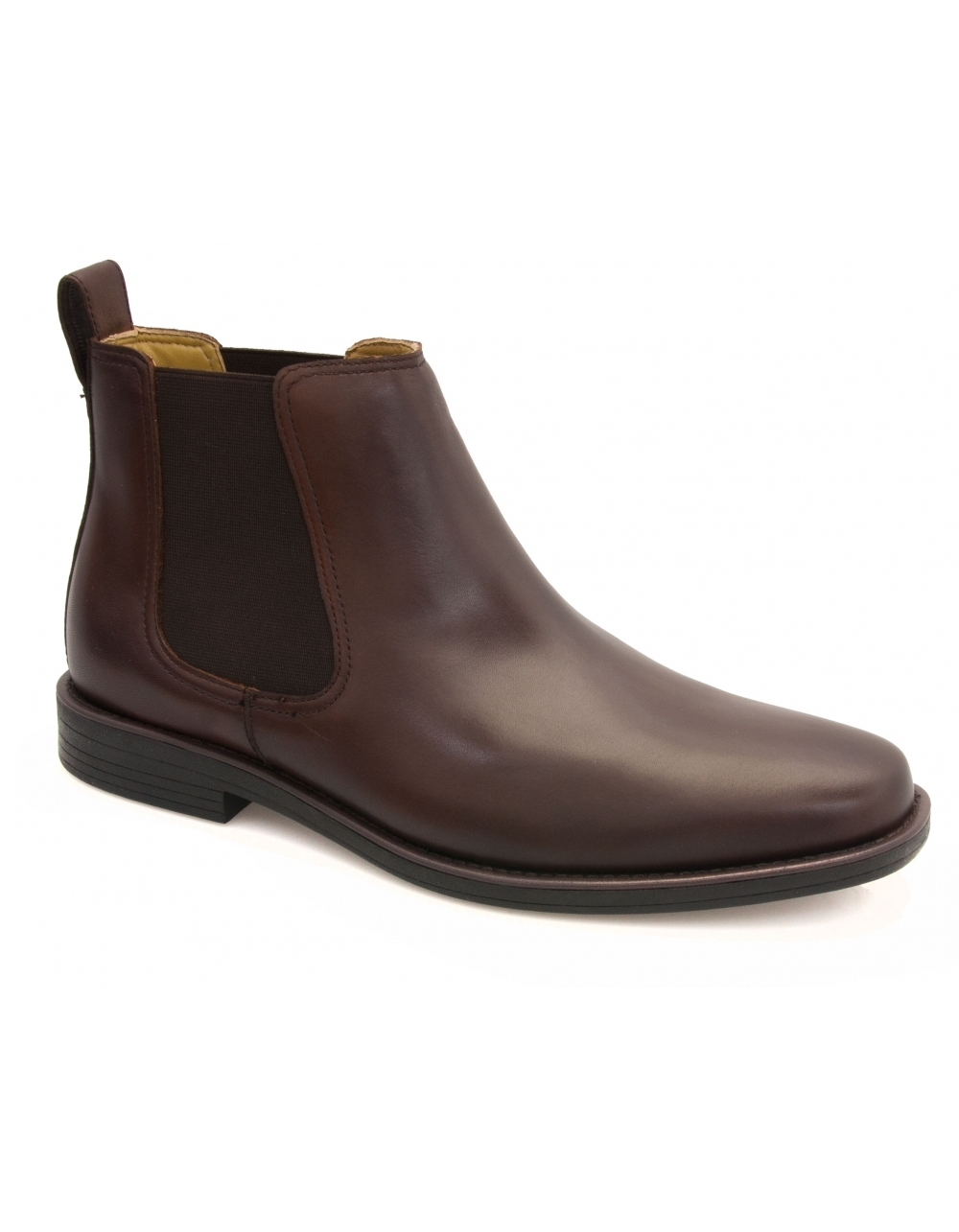 steptronic brown leather chelsea boot shoes