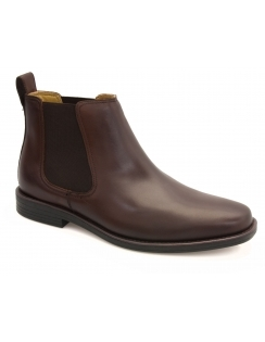Steptronic Austin - Brown Leather Chelsea Boot