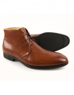 Steptronic Fortune - Tan Leather Lace Ankle Boot - Steptronic from Fields Menswear UK