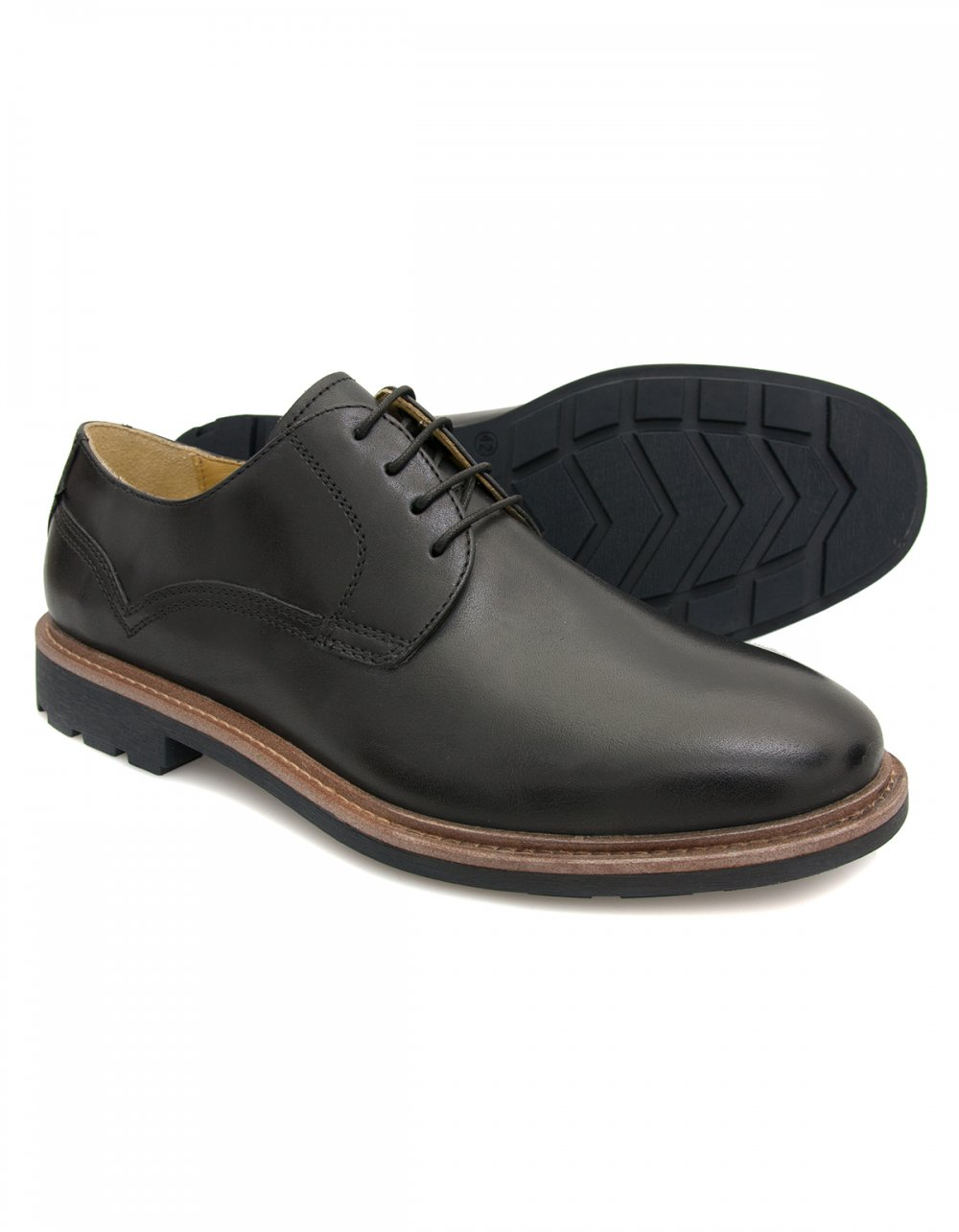 steptronic lake casual lace shoes black
