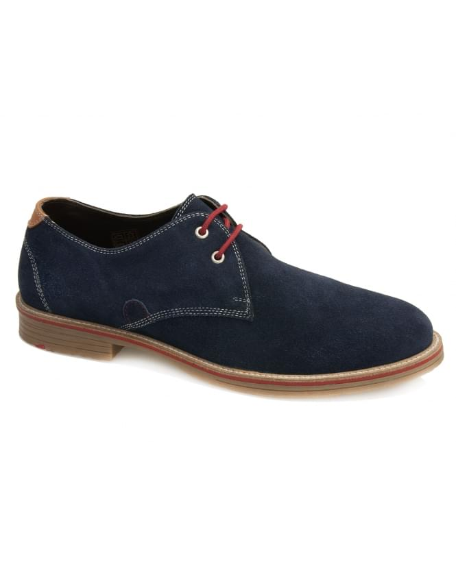 Maybury Strada Suede Gibson Lace Shoes - Navy