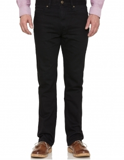 Straight Leg Denim Jean - Black