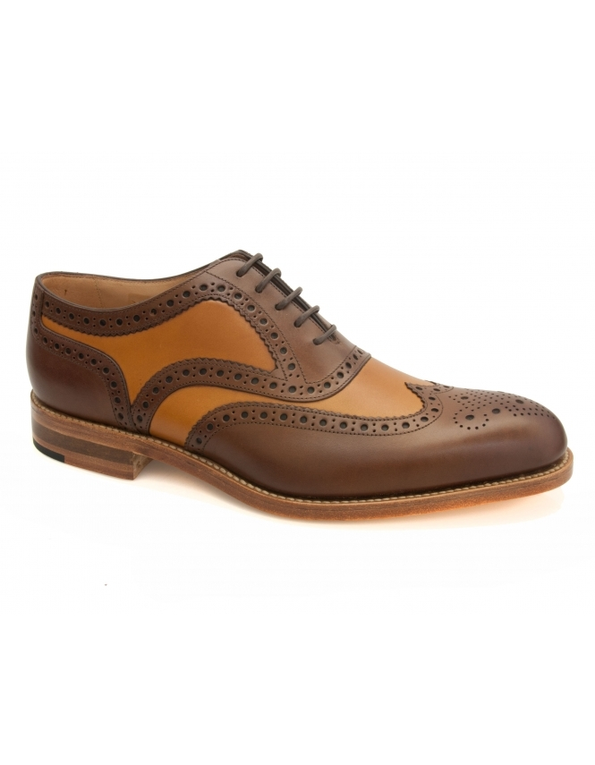 Loake Tarantula Spider Brogues - Dark Brown