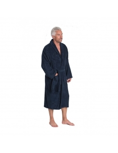 Terry Towel Dressing Gown - Navy