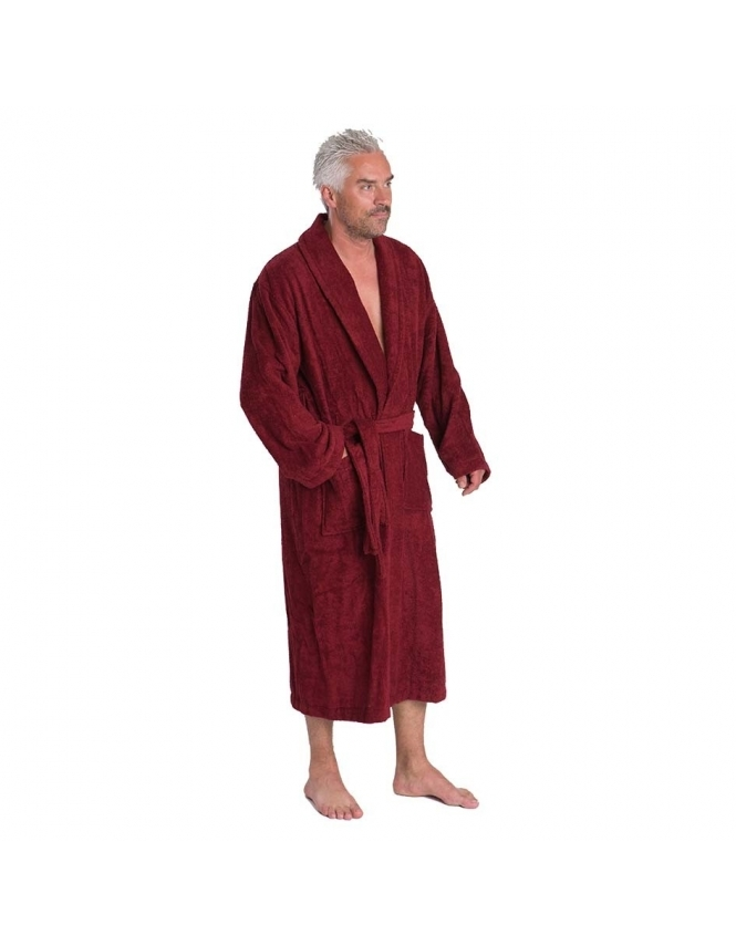 Bown Of London Terry Towel Dressing Gown - Wine