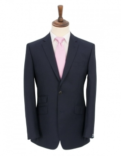 Navy Sharkskin Pure New Wool Suit Jacket